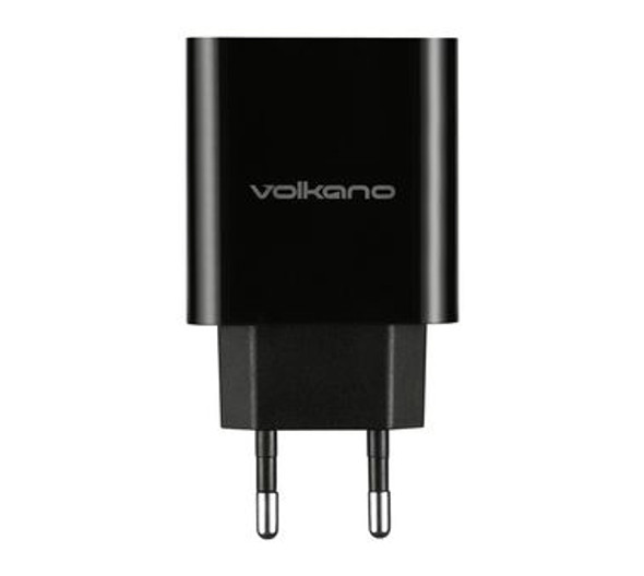 Volkano Cupla Series 3.1A Dual Output Charger with 2 Cables