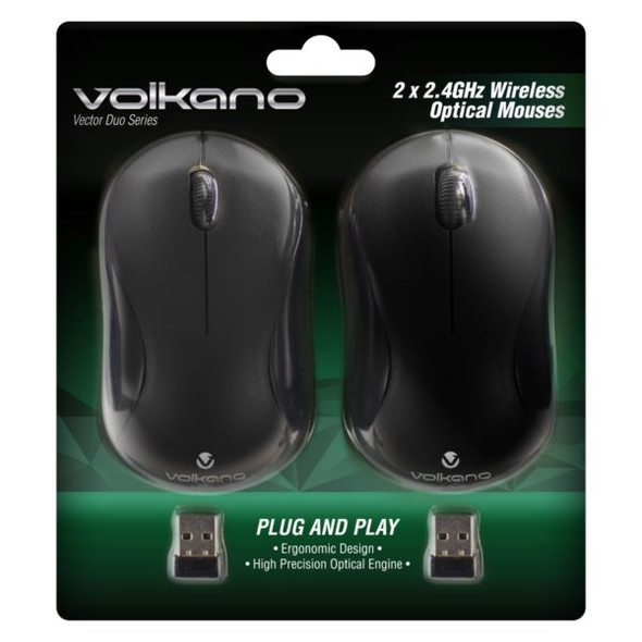 Volkano Vector Duo Series Wireless Mouse Dual Pack