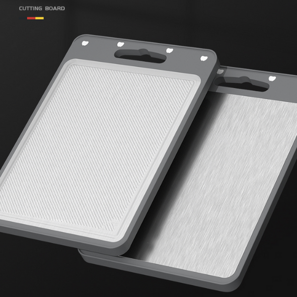 Double-Sided Stainless Steel Cutting Board