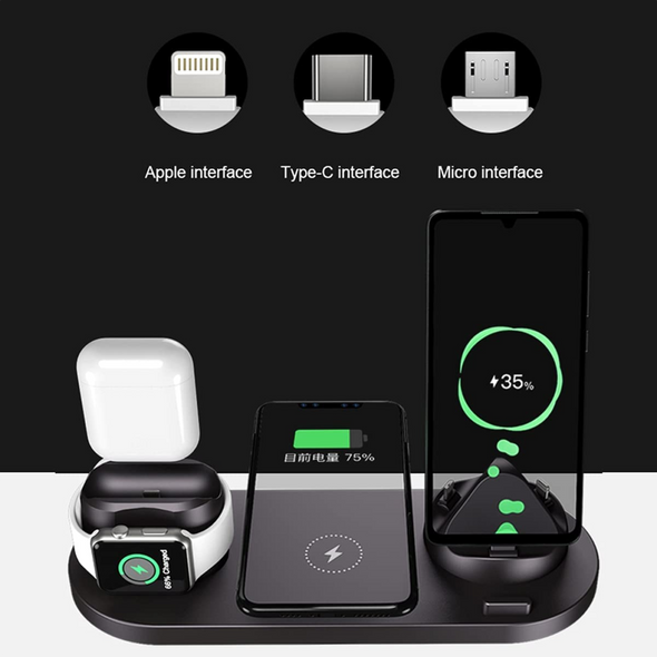 6 in 1 Multi-Function Charging Stand