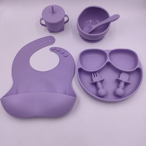 Nuovo Silicone Baby Feeding Set - 7pc