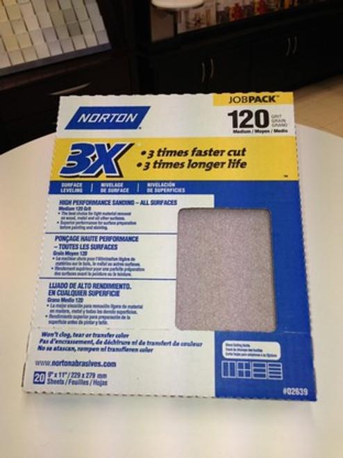 Norton 3X Sandpaper