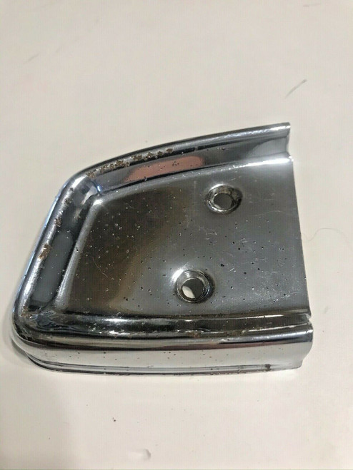 1958 Cadillac PS / RH Series 62 Door Panel Arm Rest Chrome End Cap used