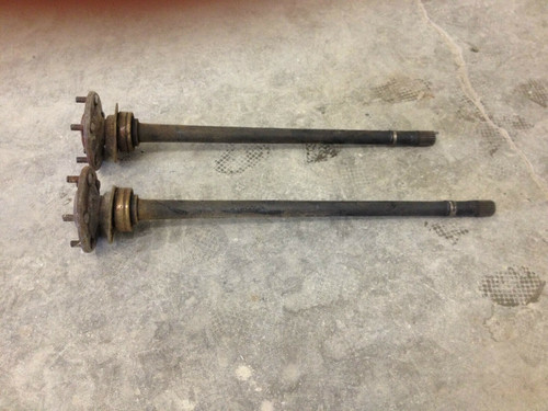 1957 - 1964 Cadillac Rear End Axle Shafts LH RH Pair Studs Flanges PS DS