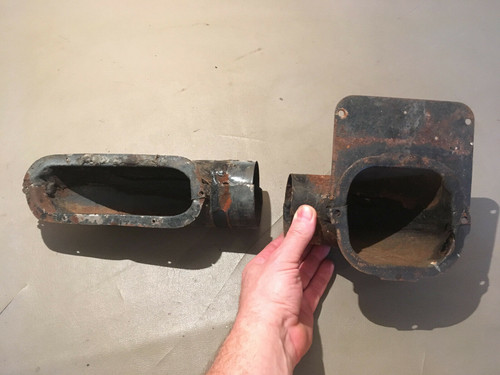 1957 1958 Cadillac Coupe DS LH Door Heat Vent Duct Original Used DeVille