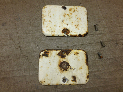 1957 1958 Cadillac Door Jamb Wire Covers Plates PW Delete Post Original Used