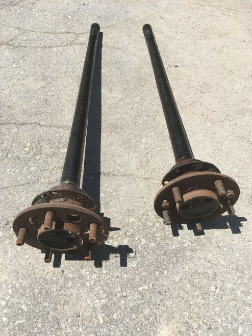 1955 1956 Cadillac Rear End Axle Shafts LH RH DS PS Pair Studs Flanges Bearing