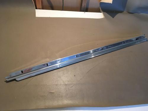 1957 1958 Cadillac 2 Door Coupe DS LH Top Window Flipper Door Glass Chrome Trim