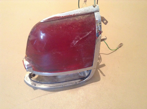 1956 Cadillac Tail Light Housing PS RH Turn Signal Lens Used Original