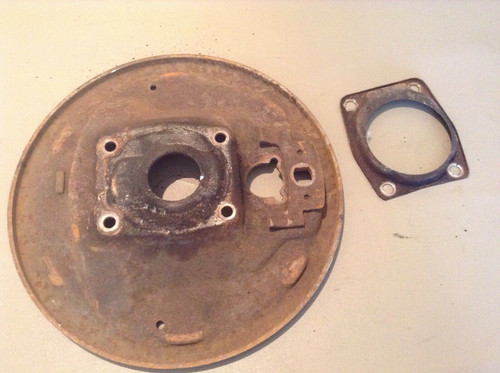 1955 1956 Cadillac PS RH Front Brake Backing Plate Used Original