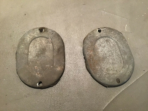 1956 Cadillac Transmission Tunnel Inspection Covers 57 58 Used Original