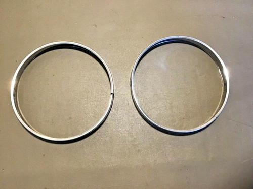 1956 1957 Cadillac Headlight Retaining Rings Stainless Chrome Trim Used original
