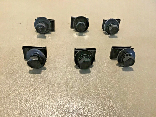1958 Cadillac Front Bumper Turn Signal / Fog Light Housing Clips Bolts Used