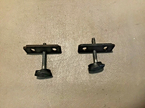 1957 1958 Cadillac Coupe Only Door Glass Window Stops Pair Used Original #1
