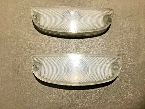 1958 Cadillac Front Parking Light & Turn Signal Lenses RH LH Original Used Lens