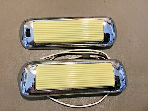 1957 1958 Cadillac Interior Roof Dome Courtesy Lights 2 Door Coupe PT# 4233328
