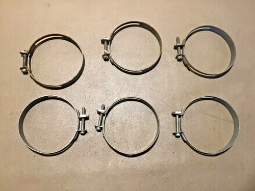 "1940 1966 Cadillac Fresh Air Heater Duct 3"" Clamps 6 pieces Original Used Ducts"