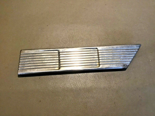 1958 Cadillac LH DS Front Kick Panel Stainless Chrome Trim Used original