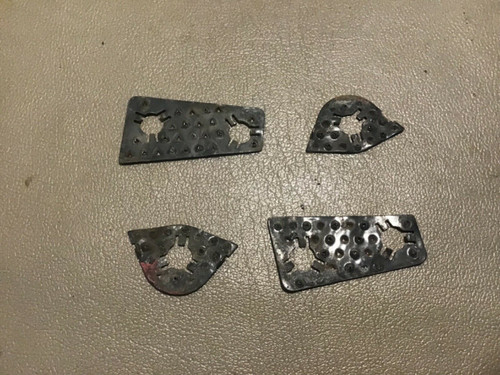 1957 1958 Cadillac Door Latch Striker Plate Shims Spacers Lock Used Original