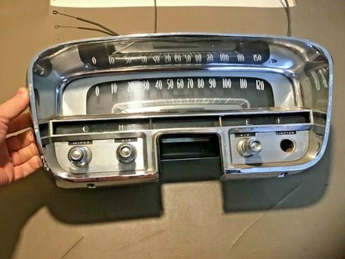 1956 Cadillac Gauge Cluster Speedometer Fuel Temp tested working used original