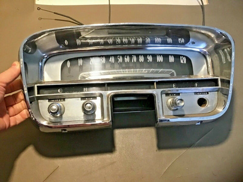 1956 Cadillac Gauge Cluster Speedometer Fuel Temp tested working used original