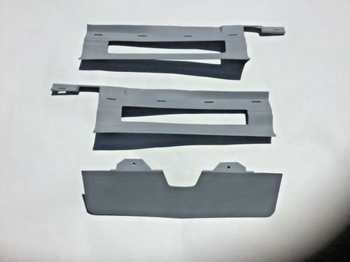 1975 1976 Cadillac Eldorado Rear Bumper Trunk Fillers Extensions 3 Piece Set