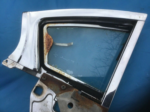 1958 Cadillac PS RH Rear Vent Window frame 4 Door Sedan Fleetwood Used Original