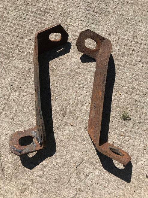 1956 Cadillac Front Bumper Brackets 2 piece Set Used