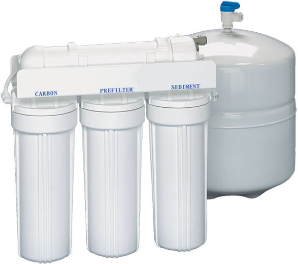 CWW Series 4 Stage RO Systems With 36 GPD TFC Membrane, 4 Gallons Tank,  Faucet & Accessories 1/4