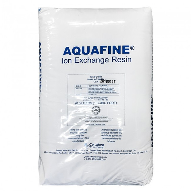 Aquafine AQ100-Na Ion Exchange Resin ( 1 Cu Ft)