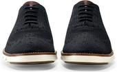 Cole Haan Men's ZeroGrand Stitchlite Wingtip Oxford C24948 Black-Ivory - Front