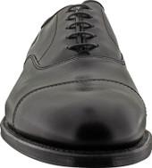 Alden Men's 907 - Straight Tip Bal - Black Calfskin - Front