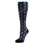 Alegria Women's Sock ALG-92600 Sugar Skulls - Front