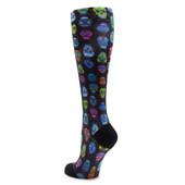 Alegria Women's Sock ALG-92600 Sugar Skulls - Back