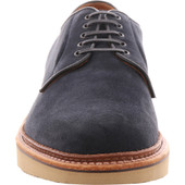 Alden Men's D1410 - Plain Toe Blucher - Navy Suede - Front