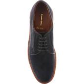 Alden Men's D1410 - Plain Toe Blucher - Navy Suede - Top