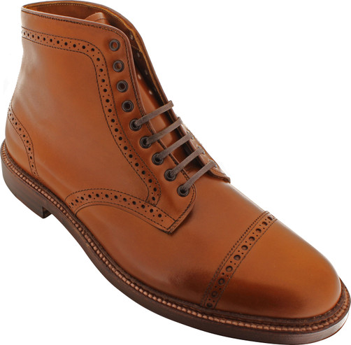 Alden Men's 39701 - Perforated Cap Toe Boot - Dark Tan - Main Image