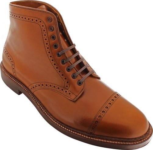 Alden Men's 39701 - Perforated Cap Toe Boot - Dark Tan