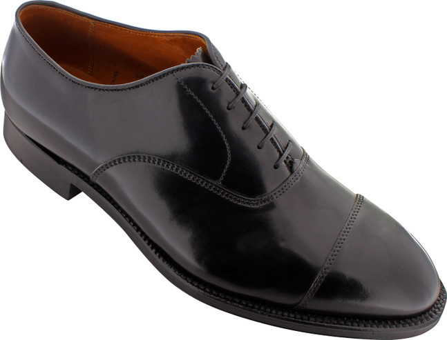 Alden Men's 9071 - Cap Toe Bal Oxford - Black Shell Cordovan - Main Image
