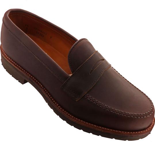 Alden Shoes Men's Leisure Loafer 5730S Dark Brown Kudu - Main Image