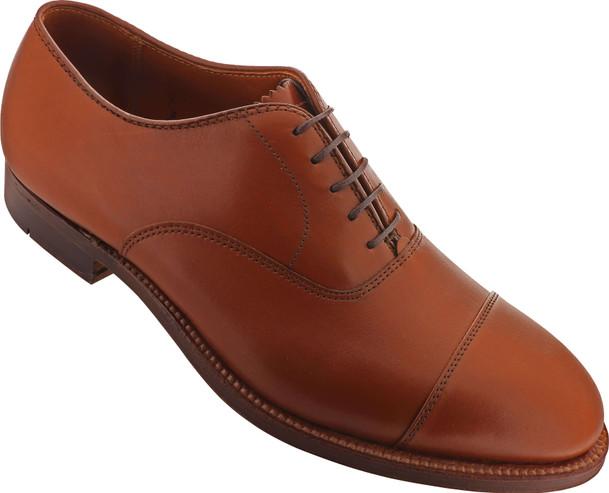 Alden Shoes Men's Straight Tip Bal 9062 Tan Calfskin - Main Image