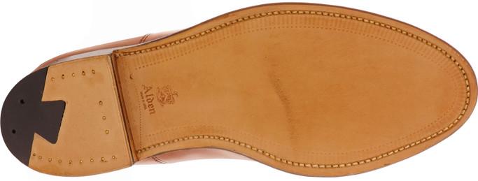Alden Shoes Men's Straight Tip Bal 9062 Tan Calfskin