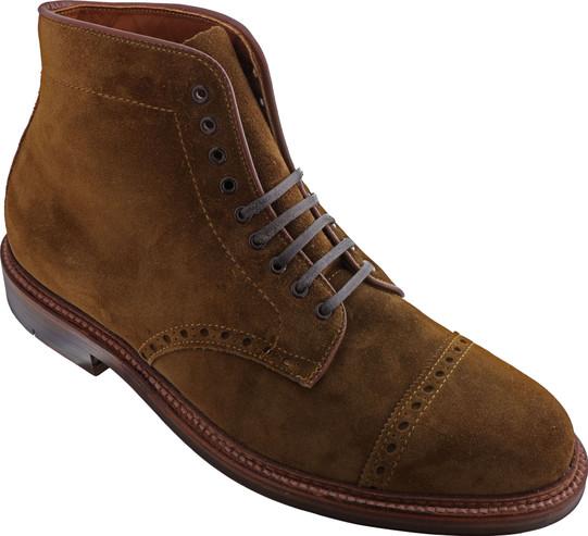 Alden Men's 39702 - Perforated Cap Toe Boot - Snuff Suede - Main Image