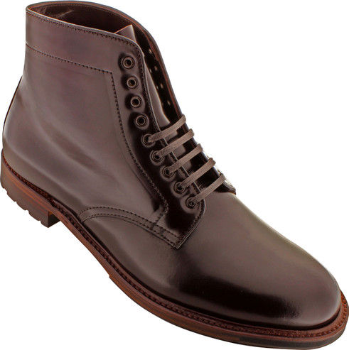 Alden Men's D5825C - Plain Toe Commando Sole Boot - Color 8 Shell Cordovan - Main Image