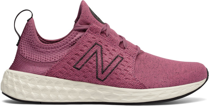 New Balance Women's Fresh Foam Cruz Retro Hoodie WCRUZHM Dragon Fruit-Sea Salt