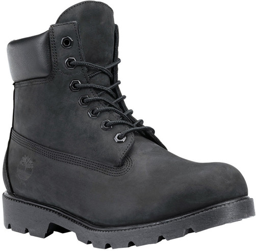 "Timberland Men's Classic 6"" Waterproof Boot TB019039001 Black Nubuck"