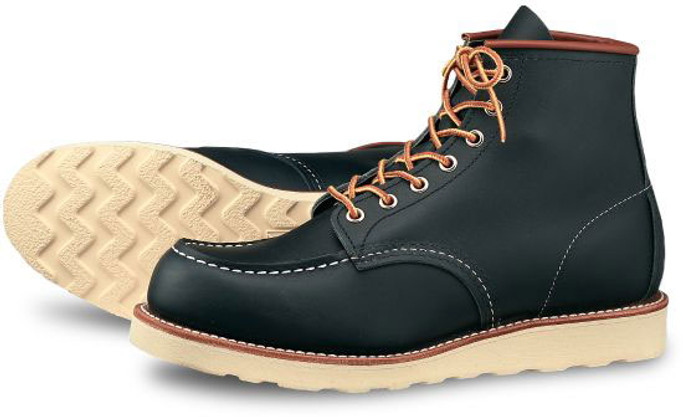 d59ddfe876ff Red Wing Heritage Men s 6-Inch Classic Moc 8859 Navy Portage - The Shoe Mart