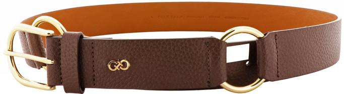 Cole Haan Women's 38mm Pebble Leather Belt - Chestnut