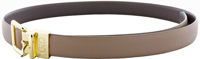 Cole Haan Women's Reversible Shrunken Leather Belt - Maple Sugar-Chestnut