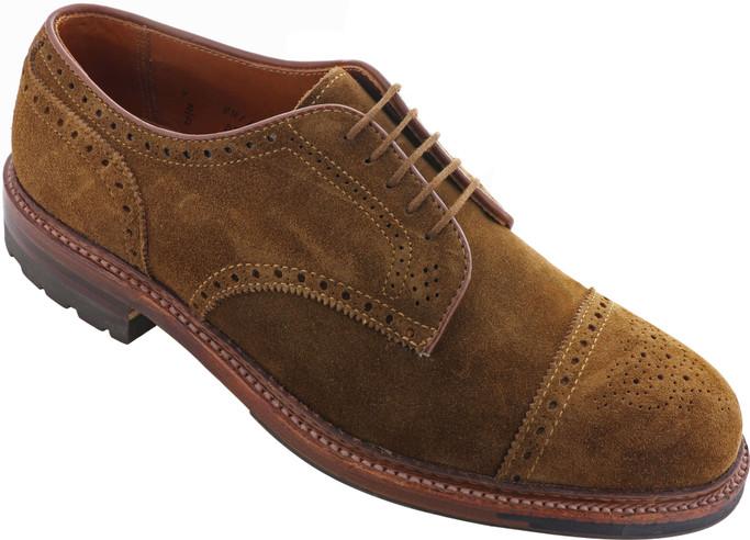 Alden Shoes Men's Medallion Tip Blucher D8512C Snuff Suede - Main Image